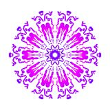 Mandala astratta Progettazione di Digital con le linee funky Fotografia Stock Libera da Diritti