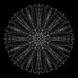 Mandala astratta Progettazione di Digital con le linee funky fotografia stock