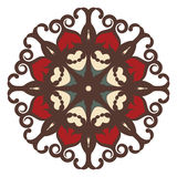 Mandala auf Hintergrund Lizenzfreie Stockfotografie
