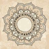 Mandala auf Weinlesehintergrund Lizenzfreie Stockfotografie