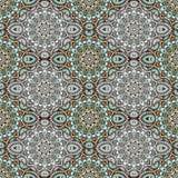 Mandala aux nuances du vert Conception est et ethnique, modèle oriental, ornement rond Pour l'usage dans le tissu, copie, tatouag illustration de vecteur
