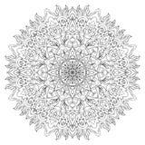 Mandala av ojämna lockiga linjer Arkivbilder
