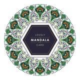 Mandala avec la conception décorative élégante et belle illustration de vecteur