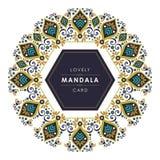Mandala avec la conception décorative élégante et belle illustration libre de droits