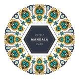 Mandala avec la conception décorative élégante et belle illustration stock