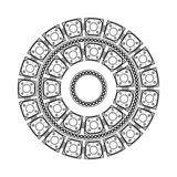 mandala Azjata, wystrój Czarny mandala dekoracyjny koronkowy ornament ilustracji
