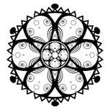 mandala Azjata, wystrój Czarny mandala dekoracyjny koronkowy ornament royalty ilustracja