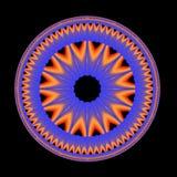 Mandala azul Fotos de archivo