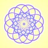 Mandala azul Imagen de archivo libre de regalías