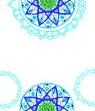 Mandala azul Fotografia de Stock