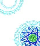 Mandala azul Fotos de Stock Royalty Free