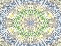 mandala Azul-amarelo-verde Imagens de Stock Royalty Free