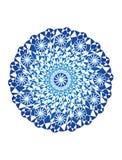 Mandala azul em um fundo branco Fundo artístico Objeto da rotação, Fractal Gráficos de vetor Imagem de Stock Royalty Free