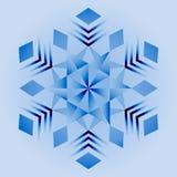 Mandala azul, ornamento geométrico, ano novo do floco de neve, Natal fotografia de stock