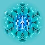 Mandala azul, ornamento geométrico, ano novo do floco de neve, Natal imagens de stock royalty free