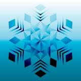 Mandala azul, ornamento geométrico, ano novo do floco de neve, Natal Fotografia de Stock Royalty Free