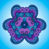 mandala Azul-violeta Foto de archivo