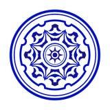 Mandala azul y blanca libre illustration