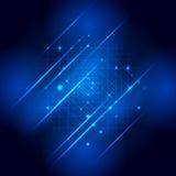 Mandala background - blue geometric mandala on a black background. Royalty Free Stock Photo