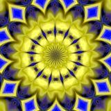 Mandala background in blue hues Stock Image