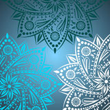Mandala background. Bohemian style. Vintage pattern with round ornament, decorative indian medallion, abstract lotus flower element. Vector design royalty free illustration