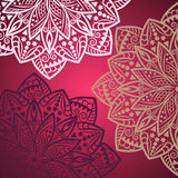 Mandala background. Bohemian style. Vintage pattern with round ornament, decorative indian medallion, abstract lotus flower element. Vector design vector illustration