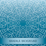 Mandala background. Card with mandala background. It can be used in web design, on postcards and etc Royalty Free Stock Photo