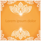 Mandala background for design or text Royalty Free Stock Photo