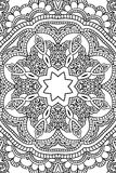 Mandala background. Ethnic decorative elements. Hand drawn . Coloring book for adults. Stock Photo