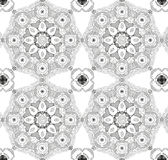 Mandala Background Seamless Pattern Ornamento rotondo d'annata Fotografie Stock