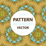 Mandala background. Vector vintage ethnic pattern for print. Islam, Arabic, Indian, moroccan,spain, turkish, pakistan, motifs. Royalty Free Stock Photos