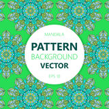 Mandala background. Vector vintage ethnic pattern for print. Islam, Arabic, Indian, moroccan,spain, turkish, pakistan, motifs. Royalty Free Stock Photography