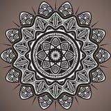 Mandala background. Vintage decorative elements. Oriental pattern; vector design. Islam; Arabic; Indian; turkish; pakistan Stock Images