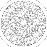 Mandala Ball flower coloring vector for adults Royalty Free Stock Photo