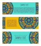 Mandala banners Royalty Free Stock Photography