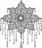 Mandala with beads and crystals. Tribal ethnic mandala with beads and crystals Stock Photo