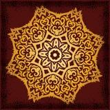 Mandala. Beautiful mandala on dark red background with grunge effect Stock Photo