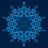 Mandala. Beautiful hand-drawn flower. Royalty Free Stock Photos