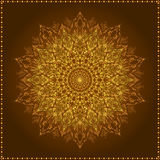 Mandala. Beautiful hand-drawn flower. Royalty Free Stock Photos