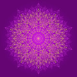 Mandala. Beautiful hand-drawn flower. Royalty Free Stock Photo