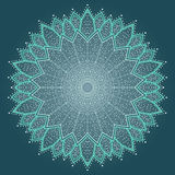 Mandala. Beautiful hand drawn flower. Royalty Free Stock Images