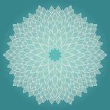 Mandala. Beautiful hand drawn flower. Stock Images
