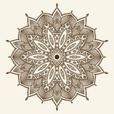 Mandala. Beautiful hand drawn flower. Royalty Free Stock Photography