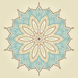Mandala. Beautiful hand drawn flower. Stock Images
