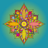 Mandala. Beautiful hand drawn flower. Stock Photos
