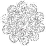 Mandala bella di coloritura di astrazione illustrazione vettoriale