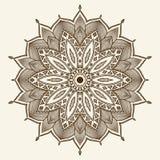 Mandala. Belle fleur tirée par la main. Photographie stock libre de droits