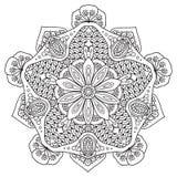 Mandala in bianco e nero royalty illustrazione gratis