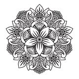 Mandala in bianco e nero illustrazione di stock