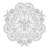 Mandala in bianco e nero fotografie stock
